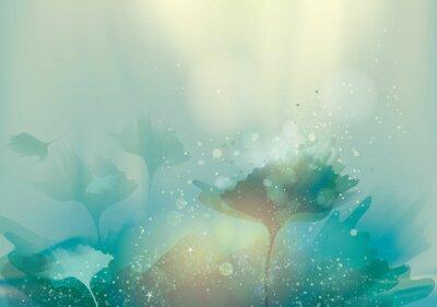 Obraz Piękne abstrakcyjna krajobraz / Magia kwiatów w tle