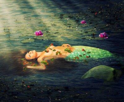 Obraz Piękne kobiety syrenka