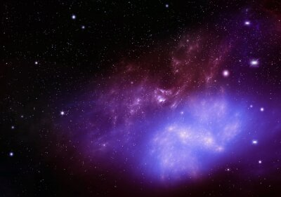 Obraz piękne tło nocnego nieba głębokiego kosmosu