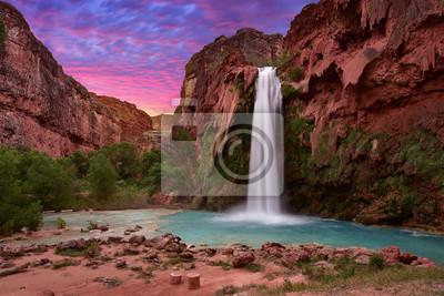 Obraz Piękny Havasu Spada w Havasupai, Arizona, usa