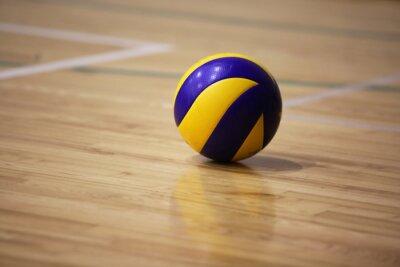 Obraz Piłka do siatkówki na podłodze