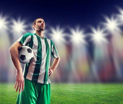 Obraz Piłka nożna gracz z piłką
