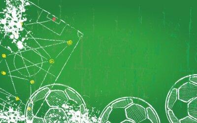 Obraz Piłka nożna / Piłka szablonu projektu, kopia wolna przestrzeń, wektor