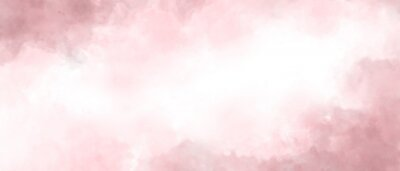 Obraz Pink color abstract watercolor background