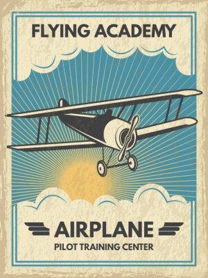 Obraz Plakat rocznika aircaft. Ilustracji wektorowych