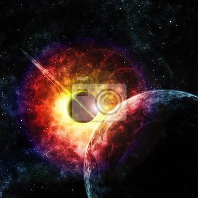 Obraz Planeta z pierścieniami
