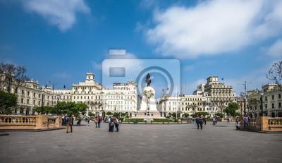 Obraz Plaza San Martin w historycznym centrum Limy, Peru