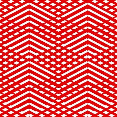 Obraz Płytka czerwony i biały wektor wzór tła lub tapety
