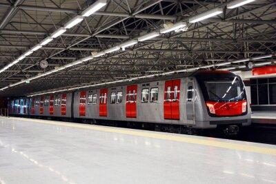 Obraz Pociąg metra na stacji metra