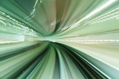 Obraz Pociąg porusza się szybko w tunelu