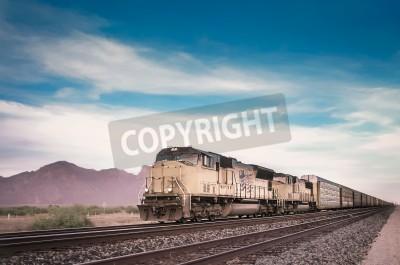 Obraz Pociąg towarowy działa Podróżowanie Arizona Desert