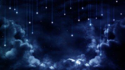 Obraz Pokojowe tło, niebieskie niebo noc. Elementy dostarczone przez NASA