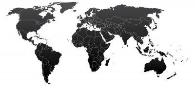 Obraz Polityczna mapa świata