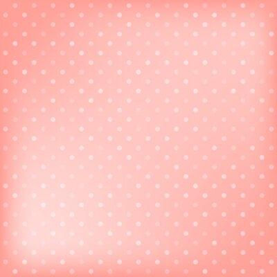 Obraz Polka dot tle różowy