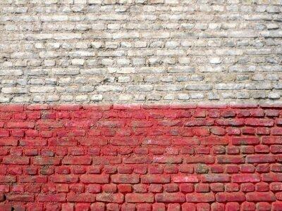 Obraz Polska flaga malowane na ścianie