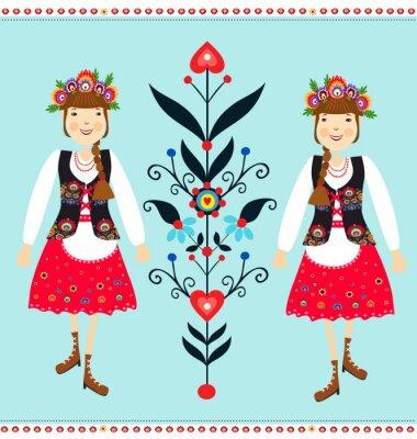 Obraz Polski Wzór ludowy