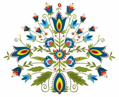 Obraz Polski Wzór ludowy - inspiracja