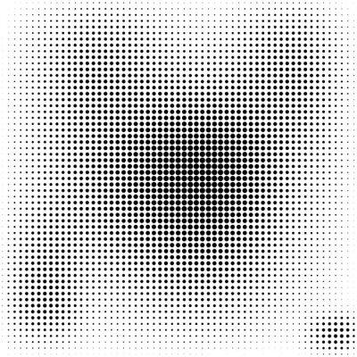 Obraz Półtonów kropki czarnym tle stylowe