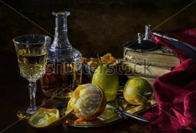 Obraz Pomarańcze, gruszki i suszone morele