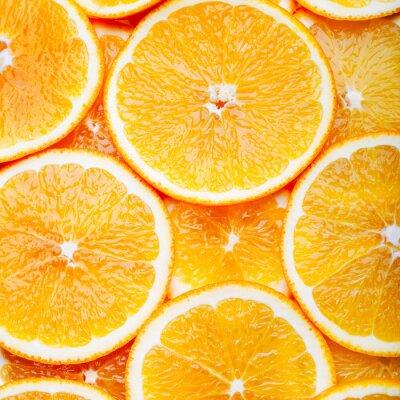 Obraz Pomarańczowe tło plasterki