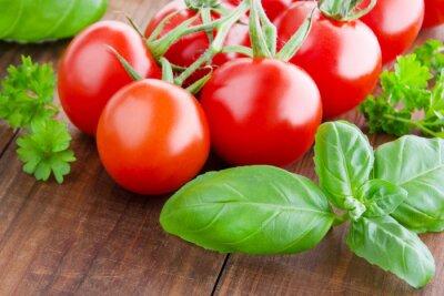 Obraz Pomidory i bazylia