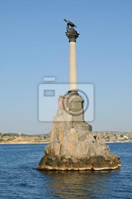 Pomnik scuttled statków w Sewastopolu. Krym.