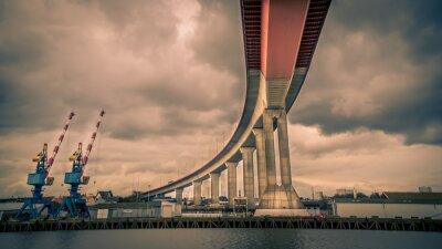 Obraz Pont autoroute au dessus Loary - Nantes