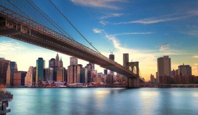 Obraz Pont de Brooklyn vers Manhattan, Nowy Jork.