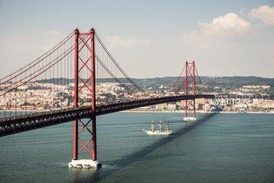 Obraz Ponte 25 de Abril w Lizbonie