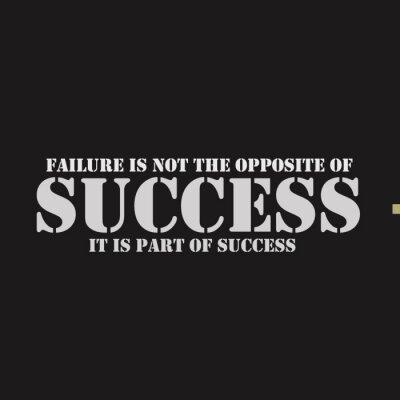 Obraz Porażka nie jest przeciwieństwem sukcesu. Jest to część sukcesu.