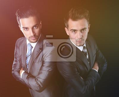 Obraz portrait of two business partners
