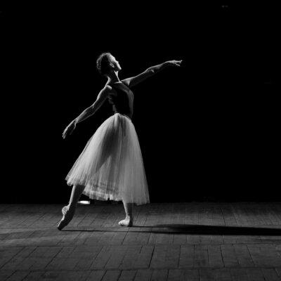 Obraz Portret młodej pięknej baletnicy