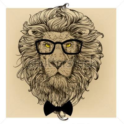 Obraz portret postaci lwa