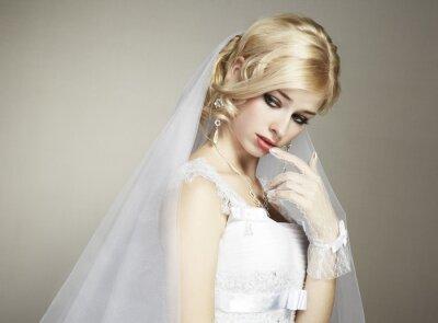 Obraz Portret ślub pięknej panny młodej