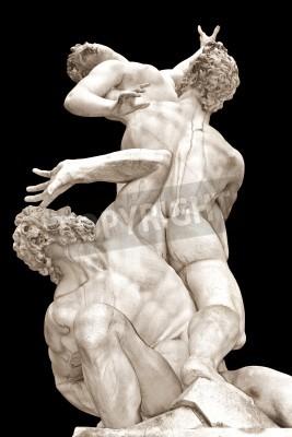 Obraz Porwanie Sabinek przez Giambologna Loggia w Piazza della Signoria, Florencja, Włochy