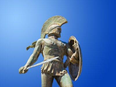 Posąg króla Leonidasa w Sparta, Grecja