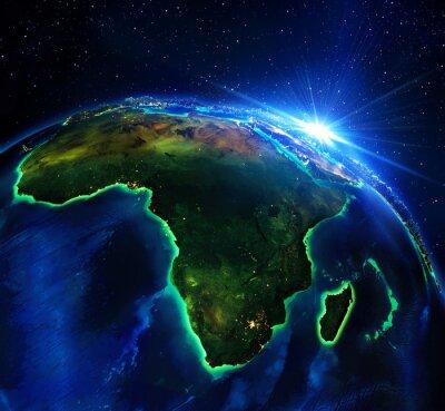Obraz Powierzchnia gruntów w Afryce, noc
