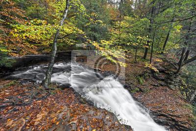 Powyżej Ganoga Falls - Ricketts Glen, Pennsylvania