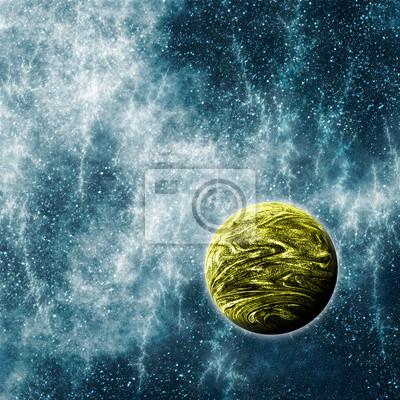 Obraz Pozasłoneczne planety w Warped przestrzeni czasowej Region