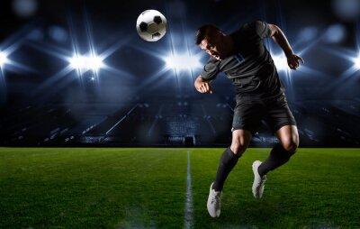 Obraz Pozycji Hiszpanie piłkarz piłkę