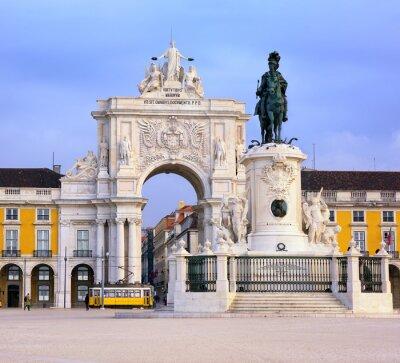 Obraz Praca do Comercio placu w Lizbonie, Portugalia