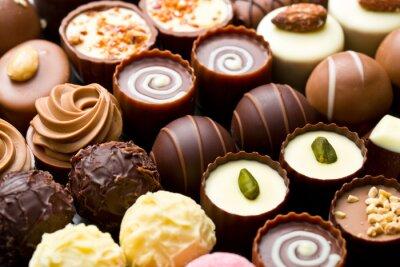 Obraz praliny czekoladowe odmiany