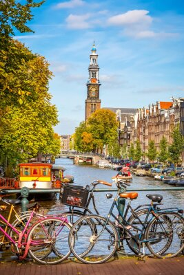 Obraz Prinsengracht kanał w Amsterdamie