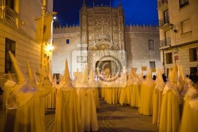 Procesion de Semana Santa en Valladolid, Hiszpania
