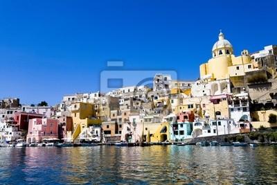 Procida, isola nel mare Mediterraneo, napoli