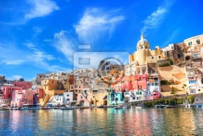 Procida, piękna wyspa na Morzu Śródziemnym, Neapol
