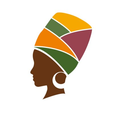 Obraz Profil wektorowych african kobieta w kapeluszu