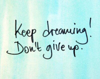 Obraz Przechowywać Dreaming don t zrezygnować