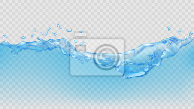 Obraz Przejrzysta woda. Przejrzystość tylko w pliku wektorowego
