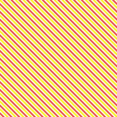 Obraz Przekątna paskiem szwu. Geometryczne klasycznym żółtym i czerwonym tle linii.